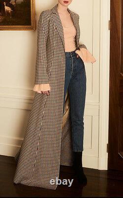 $1480 NEW Caroline Constas 2 PC Duster MAXI COAT + WIDE LEG TROUSER Pants XS