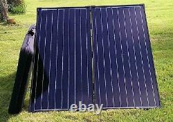 160W Folding Solar Panel KIT caravans Motorhomes TITAN ENERGY UK BUSINESS 100W