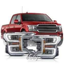 1-2Business Days arrive For 18-20 F150 Limited Chrome LED Sequential Headlights