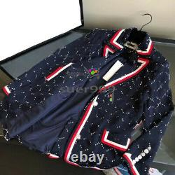 21/FW Printed Suit Jacquard Personality Casual Outfit Jacket + Trousers Women's