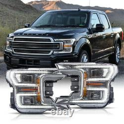 3-4Business Days arrive For 18-20 F150 Limited Chrome LED Sequential Headlights
