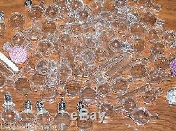 400pc MIX Starter up Business Kit Lot Glass Mini bottles vials charms pendants