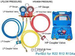 4Cfm 1/3Hp Air Vacuum Pump Hvac A/C Refrigeration Tool Kit Ac With Leak Detector