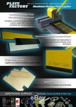 4D 3D Gel UPGRADE Number Plates Letters Digits Wholesale BUSINESS BULK TRADE kit