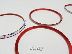5x anelli presa aria condizionata adesivo rosso Mercedes Classe A B CLA GLA