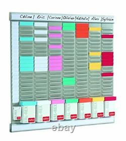7 Panel Weekly Business T Card Organiser Midi Kit, 480 x 480 mm Assorted Sizes