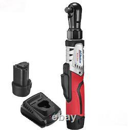 ACDelco Cordless BRUSHLESS 12V Ratchet Wrench (1/2) Tool Kit, 2 Batteries
