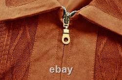 Bagazio Men's Cognac Microsuede / Sweater Zip-Up Bomber Jacket Outfit