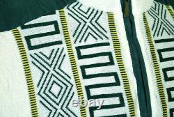 Bagazio Men's Cream / Hunter Green Half-Zip Microsuede Sweater Two Piece Outfit