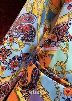 Baroque multicolor gold chain blazer jacket pants trouser suit set outfit chic