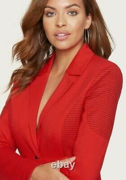 Bebe Suit Jacket Outfit Lot of 2 Blazer Ponte Pants Trapunto Stitching Red NWT S