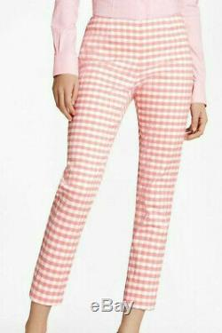 Brooks Brothers $466 Pink Gingham Double-Weave 12 Jacket & 12 Pants Suit Outfit