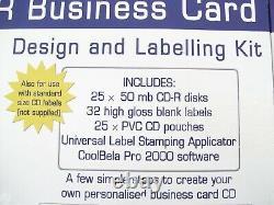 Business Card CD Label Maker Design & Label Kit Pyrod Cdk-25 Cd-r