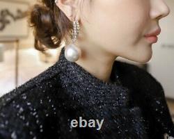 Chic elegant silver black tweed a line long skirt jacket blazer suit set outfit