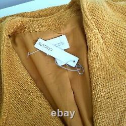 Chico's Beautiful 2 Piece Outfit Suit Mustard Orange Pant SZ 3 Blazer coat SZ 2