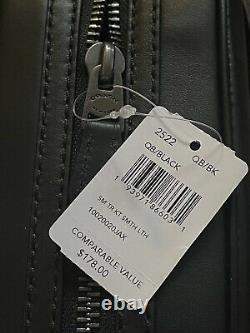 Coach Leather Travel Kit Toiletry Case Shave Bag NWT $178 Black 2522 Dopp