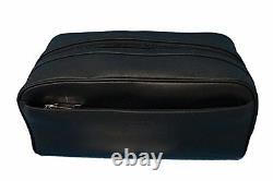 Coach Leather Travel Kit Toiletry Shave Bag NWT $175 Black F58542