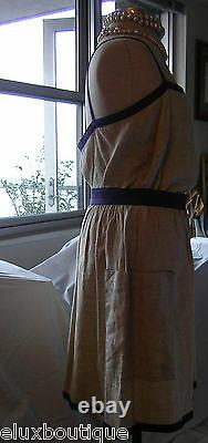 ESCADA 3 Piece SKIRT SUIT Camisole Jacket Set Linen Outfit Top Blazer 36 4 6 NEW
