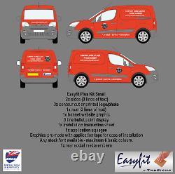 Easyfit Plus Kit Small Van Diy Fit Easy Application Signs Decals Business