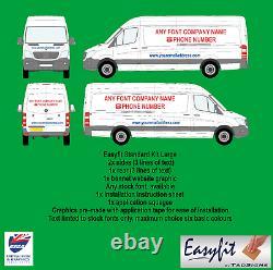 Easyfit Standard Kit Large Van Diy Fit Easy Application Signs Decals Business
