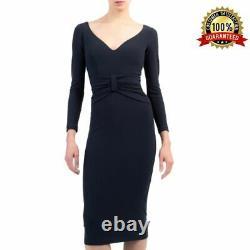 Fashion Outfit Dress Crepe Navy Claudetta Chiara Boni La Petite Robe Casual Wear