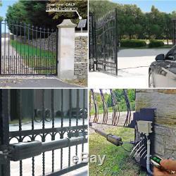 Gate Opener Kit Automatic A8 Heavy Duty For Single Swing Gates 850Lbs Gate Motor