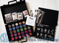 Glitter Tattoo Pro Kit Business Set with Case + Stencils withDVD NEW 452 pcs Party