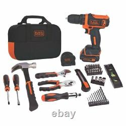 Home Business Office DIY Power Tools Drill Project Kit Sets 12V Black & Decker