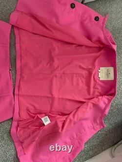 Kate Spade pink Jewel buttons 2 pieces outfit suit jacket and skirt US size 8