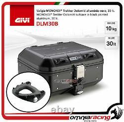 Kit Givi Rear Top Case Valigia DLM30B + Plate Piaggio Mp3 300 Business 20122014