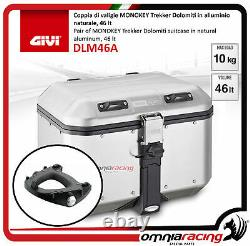 Kit Givi Rear Top Case Valigia DLM46A + Plate Piaggio Mp3 Business 500 20122013
