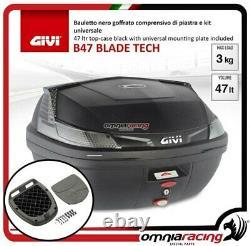 Kit bauletto Givi B47BLADE TECH+Piastra Piaggio Mp3 Business 500 122013