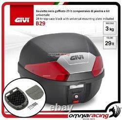 Kit bauletto Givi Valigia B29N+Piastra Piaggio Mp3 300 Business 20122014