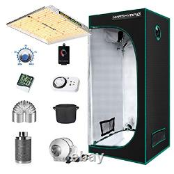 MARS HYDRO Grow Tent Kit Complete 2.3x2.3ft TS1000W LED Grow Light Dimmable Full