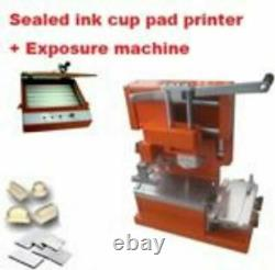 Manual ink cup pad printer + Polymer plates making package Business start kits