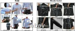 Men's Black Genuine Leather Jacket Biker Motorcycle Real Lambskin Leather Outfit