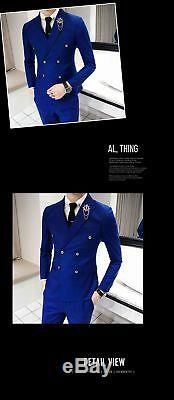 Men's Jacket Colorful Elegant Formal Attire Outfit Long Sleeve Business Suit