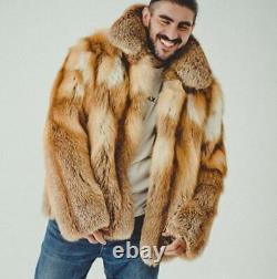 Mens Fox Fur Coat Winter Fur Jacket Outfit, BIGGEST OFFER