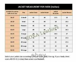 Model Men Outfit Button Coat Genuine Lambskin Natural Leather Black Biker Jacket