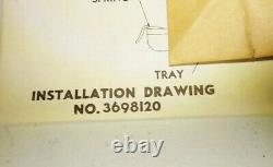 NOS GM Accessory 1954 Chevy Passenger Car ashtray Kit underdash Belair 210 150