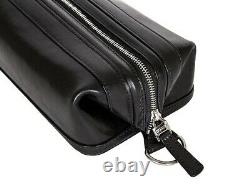 NWD Bosca Old Leather Zippered 10 Toiletry Shave Dopp Kit 577 Black