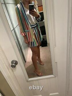 NWT ALice & Olivia RAINBOW OUTFIT 2pc Blazer + Shorts