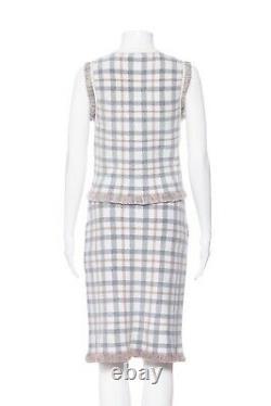 NWT CLUB MONACO Ivory Gray Simin Sweater Shirt Zina Set Small Skirt Top Outfit