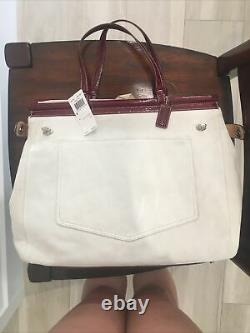 NWT Coach Suede & Patent Leather Satchel Handbag, Dust Bag & Care Kit Included