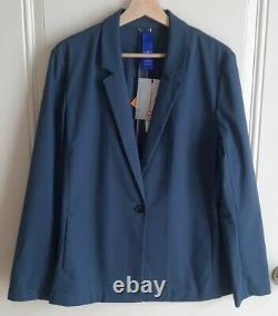NWT Kit And Ace Womens Dark Denim Stretch Ride Blazer Jacket Size Large READ