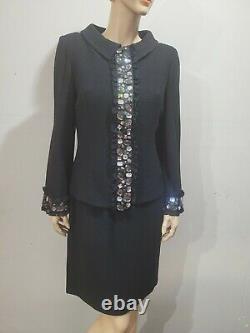 NWT ST JOHN Size 6 8 Black Dress Blazer Jacket Two Piece Outfit