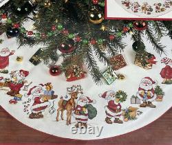 Needle Treasures Counted Cross Stitch Kit Busy Bee Santa Tree Skirt NEW
