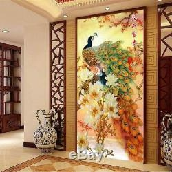 Needlework Embroidery Cross Stitch Peacock Patterns Elegant Home Business Decors