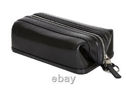 New BOSCA Leather 10 Toiletry Bag Dopp Kit