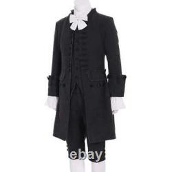 New Colonial Uniform 17th 18th Century colonial outfit Cosplay Men's black Suit